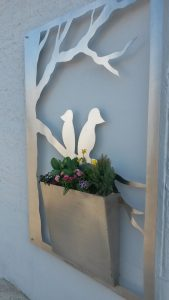 Haus - Wandbehang - Pflanzkasten