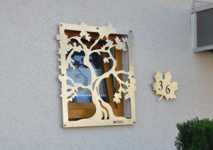 Haus - Wandbehang - Einbruchschutz
