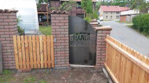 Garten - Tür - Schild -Sichtschutz